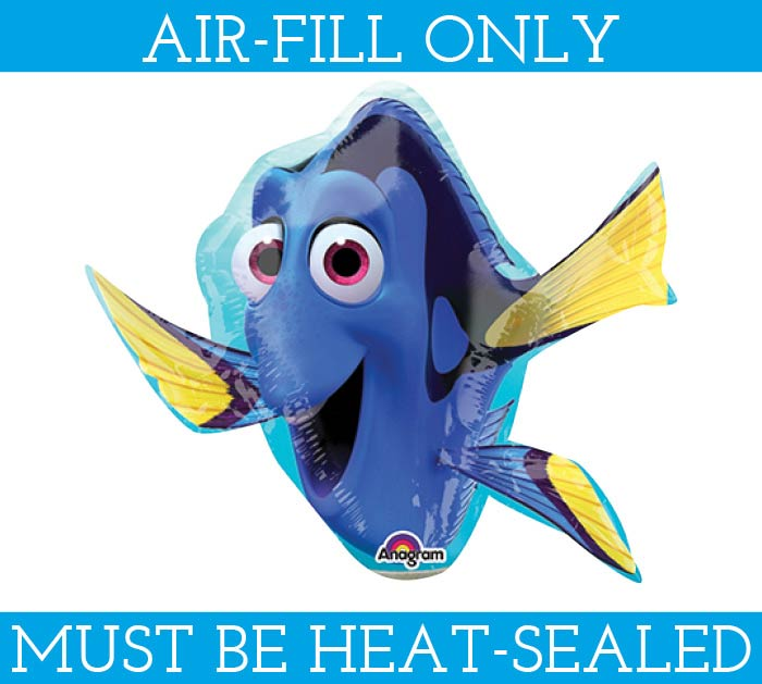 "14"" FLAT FINDING DORY MINI SHAPE"