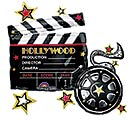 "30""PKG HOLLYWOOD CLAPBOARD SUPERSHAPE"