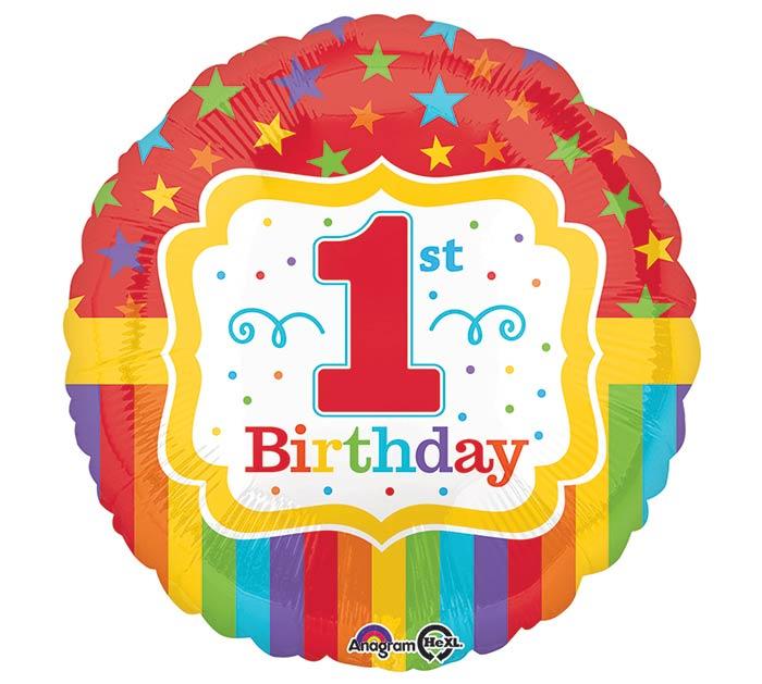 "17""PKG RAINBOW 1ST BIRTHDAY"