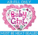 "12"" BABY GIRL HEART MINI SHAPE"