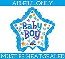 "11"" BABY BOY STAR MINI SHAPE"