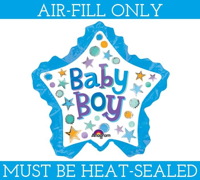 "11"" BABY BOY STAR MINI SHAPE"