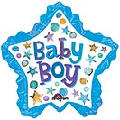 "11""INFLATED BABY BOY STAR WITH RUFFLE"