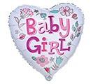 """17""""PKG BABY GIRL HEART"""