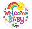 "4""INFLATED BBY WELCOME BABY BRIGHT  BOL"