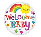 "17""PKG WELCOME BABY BRIGHT  BOLD"