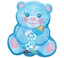 "16""PKG BBY BOY BEAR WITH BOTTLE"