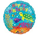 "17""PKG HBD UNDER THE SEA BIRTHDAY"