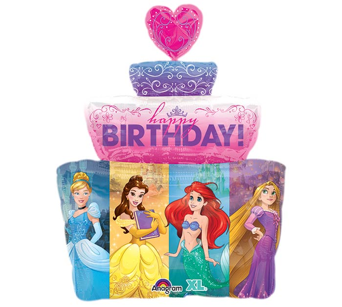 "28""PKG HBD MULTI-PRINCESS CAKE"