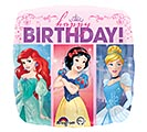 "17""PKG HBD MULTI-PRINCESS DREAM BIG"
