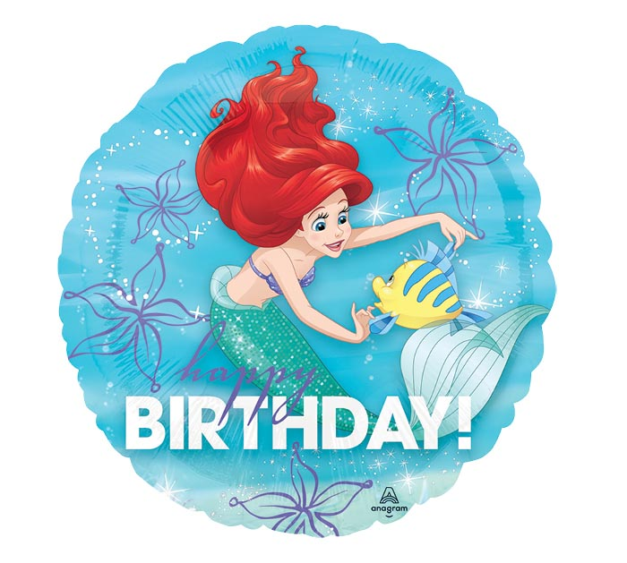 "17""PKG HBD ARIEL DREAM BIG"