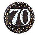 """18""""PKG HBD 70 SPARKLING BIRTHDAY"""