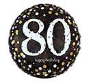 """18""""PKG HBD 80 SPARKLING BIRTHDAY"""