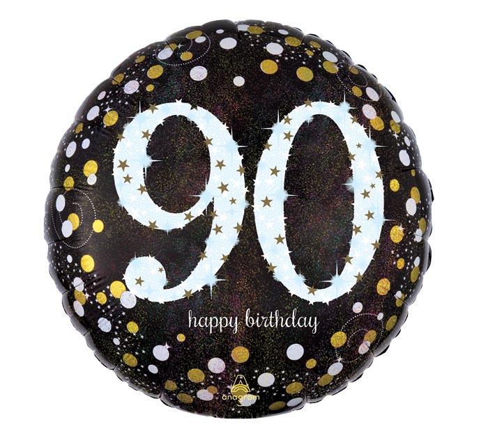 """18""""PKG HBD 90 SPARKLING BIRTHDAY"""