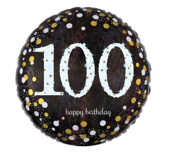 """18""""PKG HBD 100 SPARKLING BIRTHDAY"""