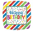 "17""PKG HBD SQUARE STRIPES  DOTS"