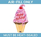 "14""FLAT HBD ICE CREAM MINI SHAPE"