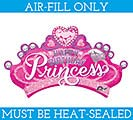 "13"" FLAT HBD PRINCESS CROWN MINI SHAPE"