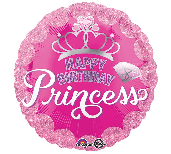 "17""PKG HBD PRINCESS CROWN  GEM"