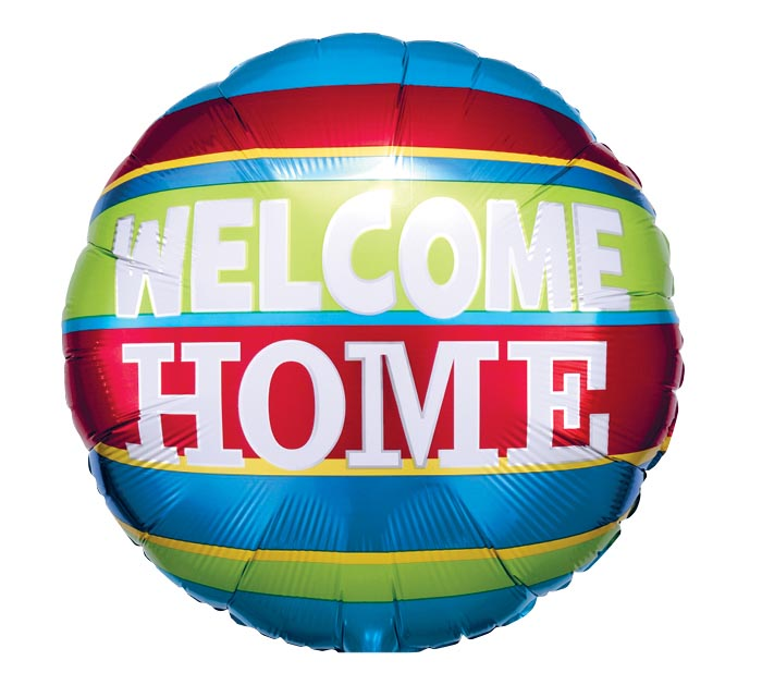 "17""PKG WELCOME HOME COLORFUL STRIPES"