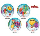 "16""PKG ORBZ HOT AIR BALLOONS CLEAR"