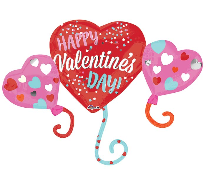 "38""PKG HVD BALLOON HEARTS"