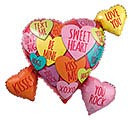 "27""PKG LUV HEARTS WITH MESSAGES CLUSTER"
