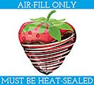 "14""FLAT CHOCOLATE STRAWBERRY MINI SHAPE"
