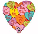 "17""LUV HEARTS WITH MESSAGES"