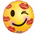 "17""LUV KISS EMOTICON"
