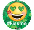"17""STP ST PAT'S KISS ME EMOTICON"
