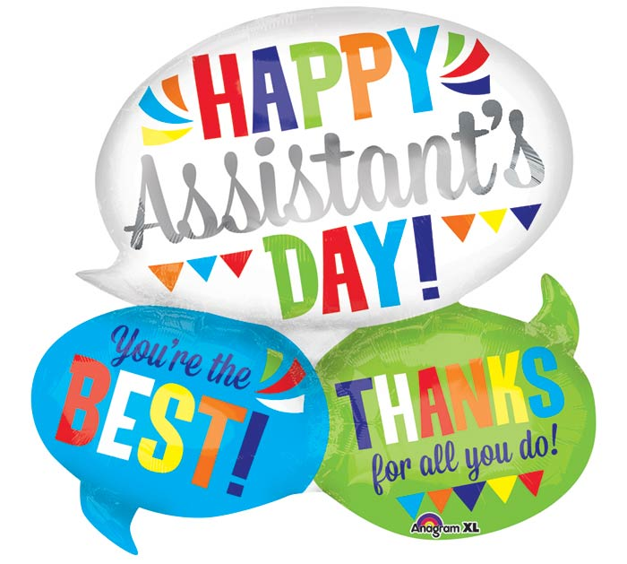 "26""PKG SEC ASSISTANT'S DAY WORD BUBBLE"