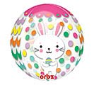 "16"" PKG EASTER BUNNY ON DOTS ORBZ"