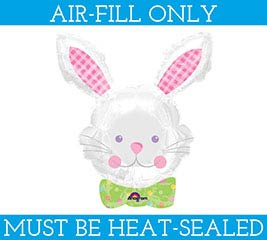 """14""""BUNNY HEAD BALLOON MUST FILL WITH AIR"""