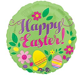"""17""""EAS HAPPY EASTER GREEN"""
