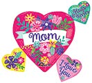 "27""PKG MOM FLOWERS HEART CLUSTER"