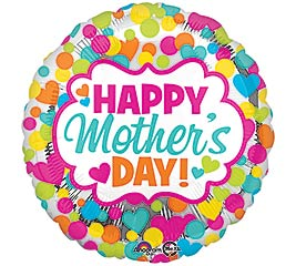 """17""""HMD MOTHER'S DAY DOTS  HEARTS"""
