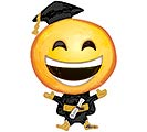 "35""PKG GRAD HAPPY GRAD EMOTICON"