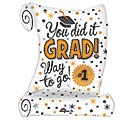 "26""PKG GRAD YOU DID IT DIPLOMA"