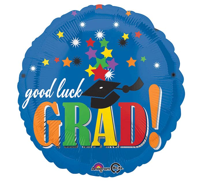 "17""GRA GOOD LUCK GRAD STARS"