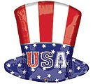 "18""PAT UNCLE SAM TOP HAT JUNIOR SHAPE"