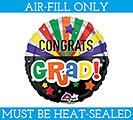 "9""FLAT GRA CONGRATS GRAD CELEBRATION"