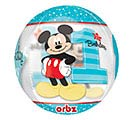 "16""PKG HBD ORBZ MICKEY 1ST BIRTHDAY 1st Alternate Image"