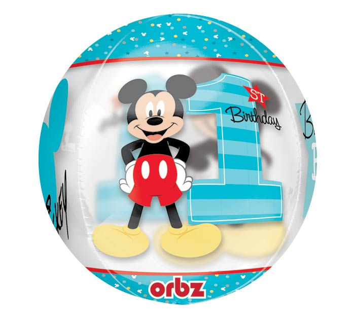"16""PKG HBD ORBZ MICKEY 1ST BIRTHDAY"