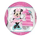 "16""PKG HBD ORBZ MINNIE 1ST BIRTHDAY 2nd Alternate Image"