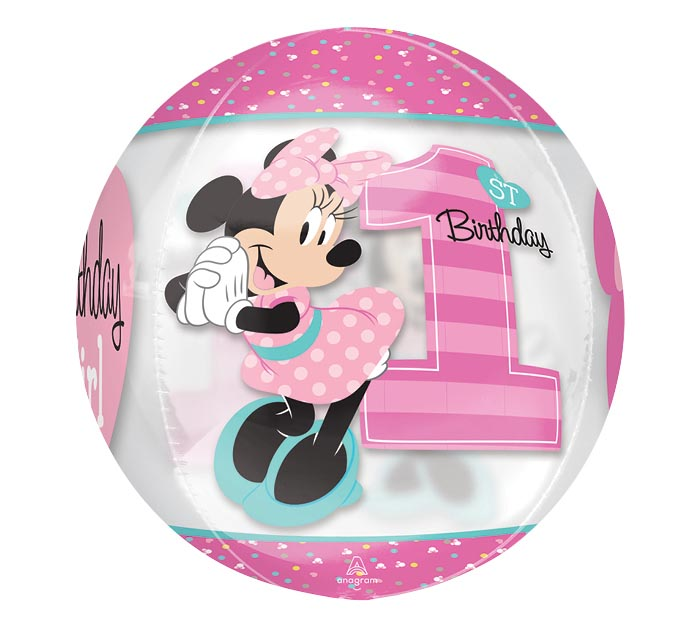 "16""PKG HBD ORBZ MINNIE 1ST BIRTHDAY"