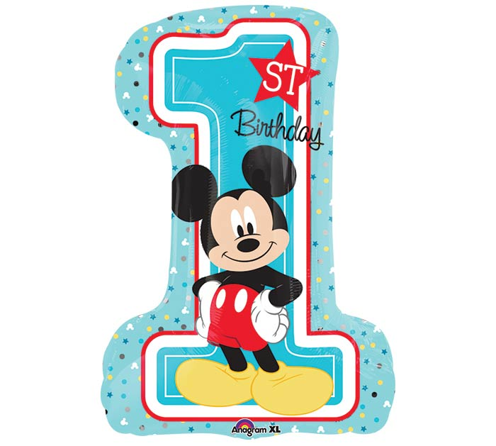 "28""PKG HBD MICKEY 1ST BIRTHDAY"