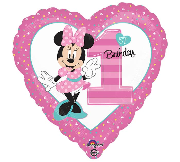 "17""PKG HBD MINNIE FIRST BIRTHDAY"