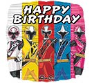 "17""PKG HBD POWER RANGERS NINJA STEEL"