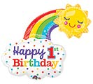 "30""PKG HBD 1ST BIRTHDAY RAINBOW"